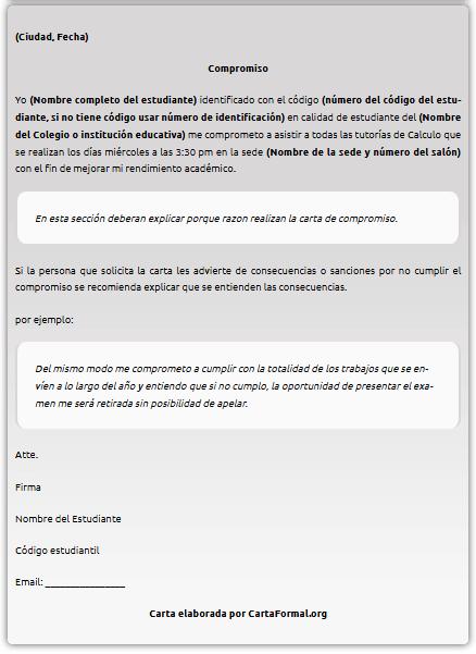 Ejemplos De Carta De Compromiso Modelo Laboral