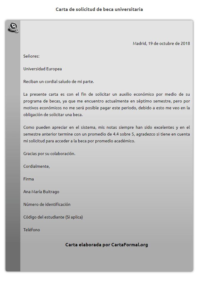 Carta Para Solicitar Ayuda Económica Al Gobierno Ejemplos