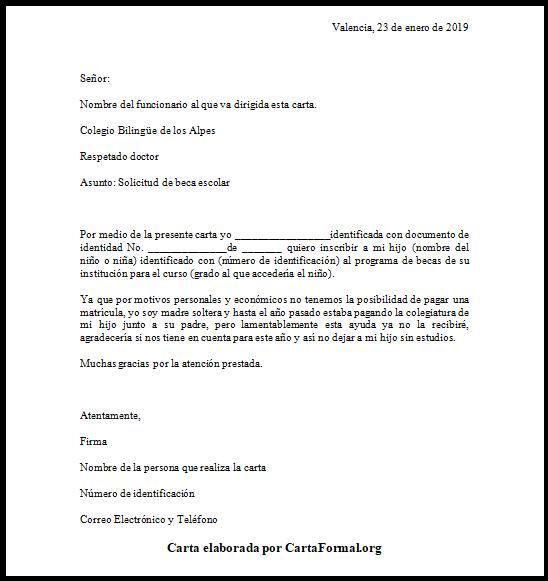 Carta De Petición Modelo Formato Y Ejemplos