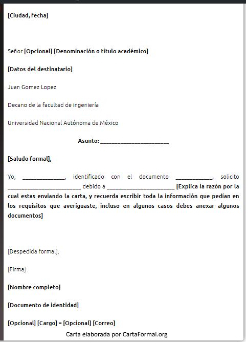 Carta Para Una Universidad Ejemplos Consejos Y Formato